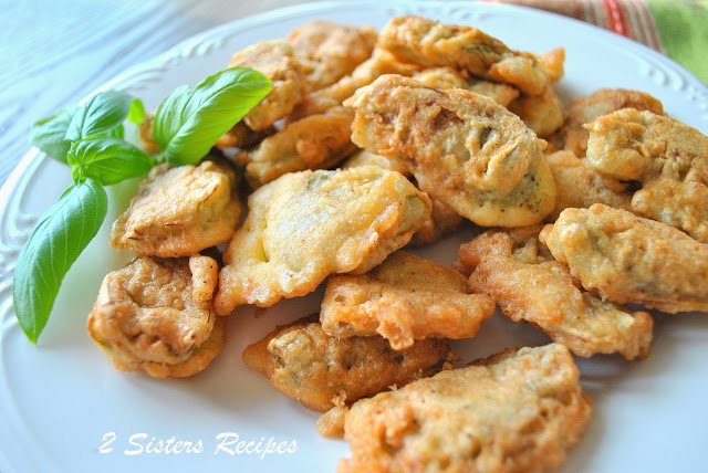 Artichoke Heart Fritters by 2sistersrecipes.com