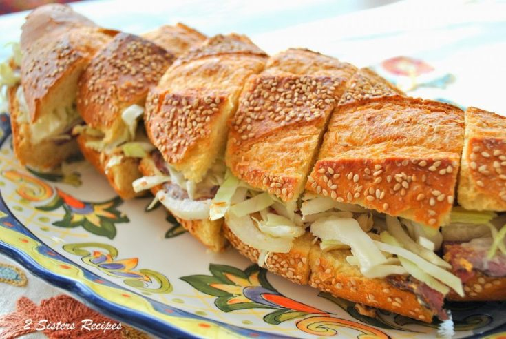 Roast Beef and Corned Beef Sandwiches with Spicy Slaw by 2sistersrecipes.com