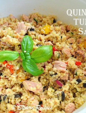 Quinoa Tuna Salad by 2sistersrecipes.com