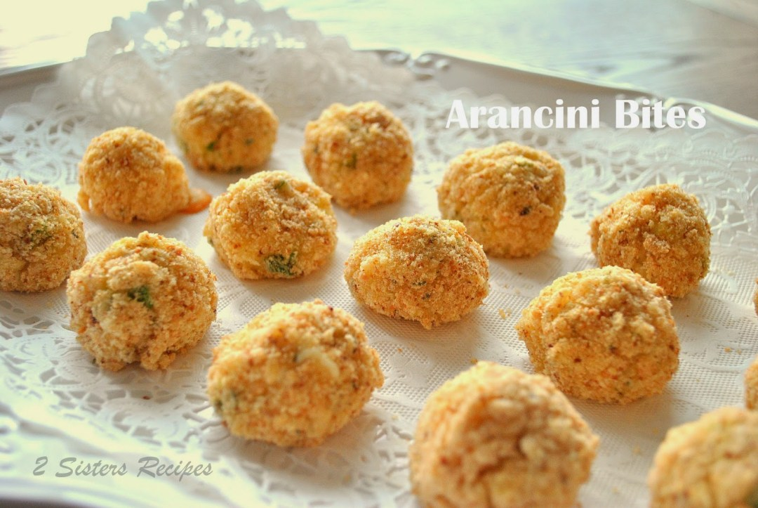 Arancini Bites with Fontina Cheese by 2sistersrecipes.com