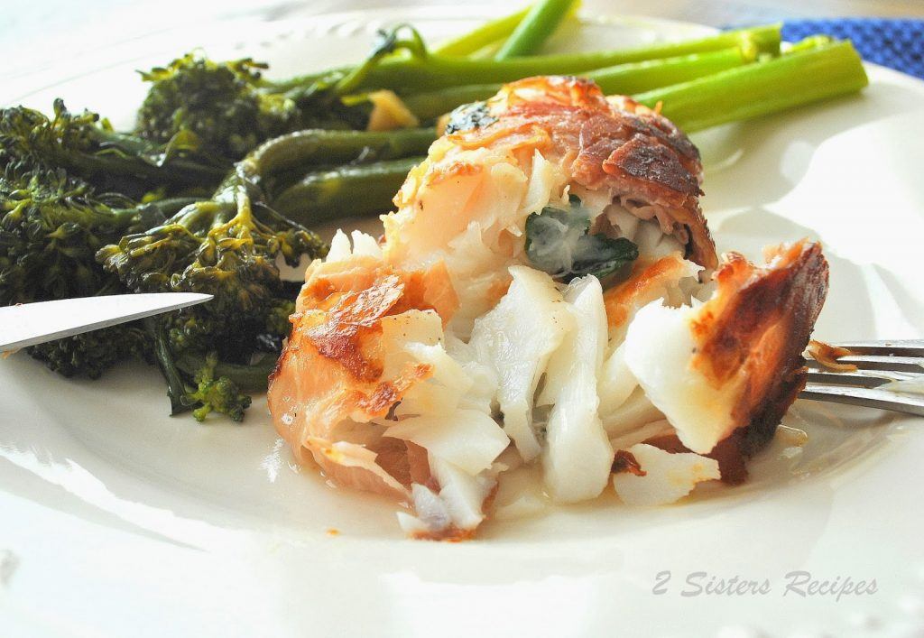 Easy cod saltimbocca 2 sisters recipes by anna and liz for Cod fish protein