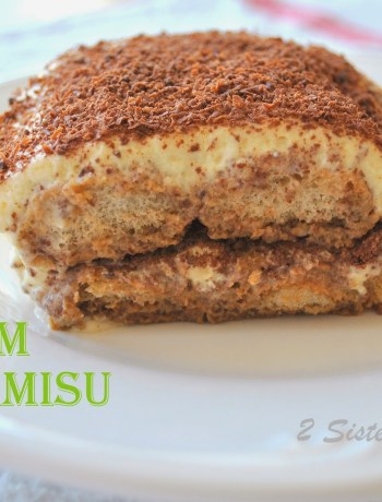 Irish Cream Tiramisu by https://2sistersrecipes.com