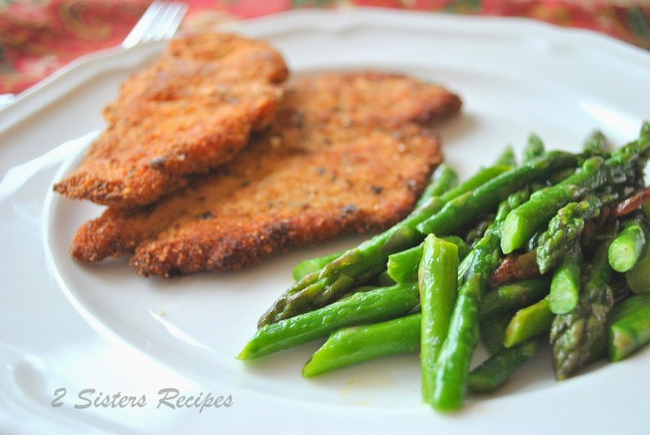 Chicken Cutlets with Garlicky Asparagus