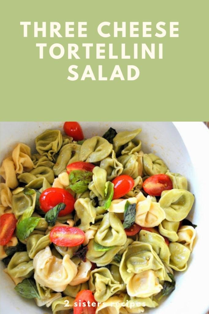 Three Cheese Tortellini Salad by 2sistersrecipes.com
