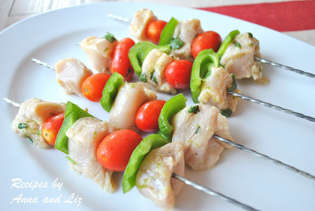 Grilled Ginger-Lime Chicken Kabobs