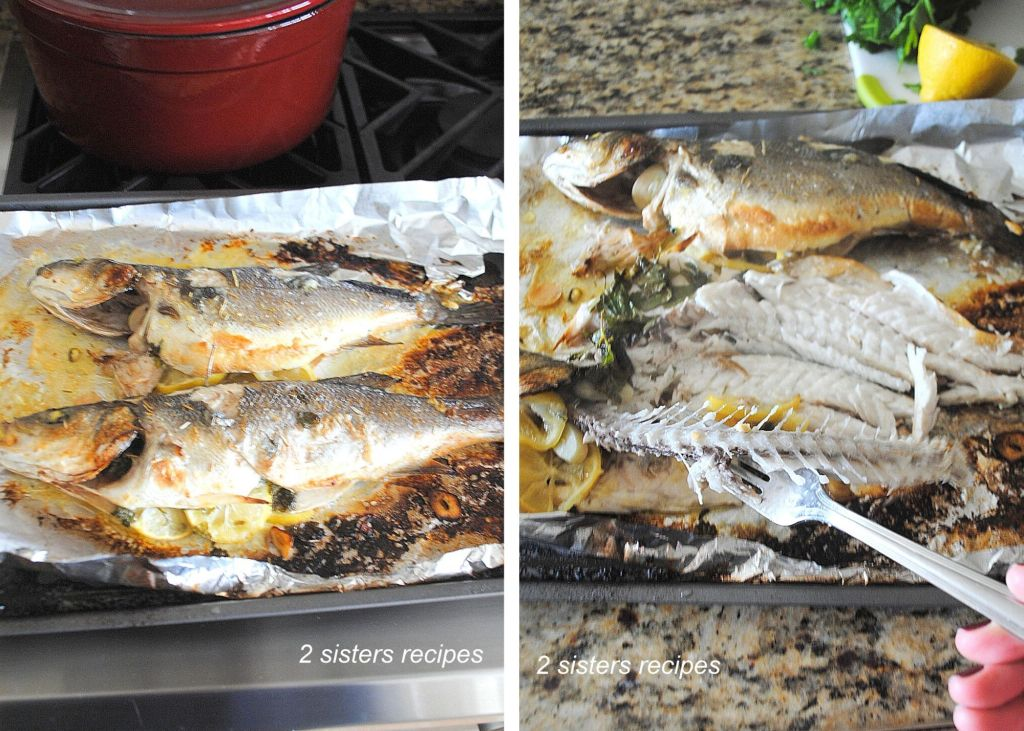 Bake or Roast Branzino with Lemon Garlic & Wine by 2sistersrecipes.com