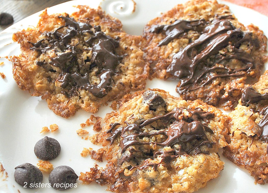 Chocolate Chip Oatmeal Pecan Cookies by 2sistersrecipes.com