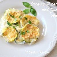 Creamy Potato and Zucchini Au Gratin - Italian Style!
