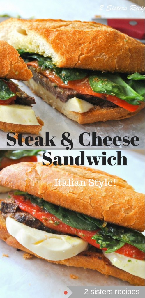 Steak & Cheese Sandwich by 2sistersrecipes.com