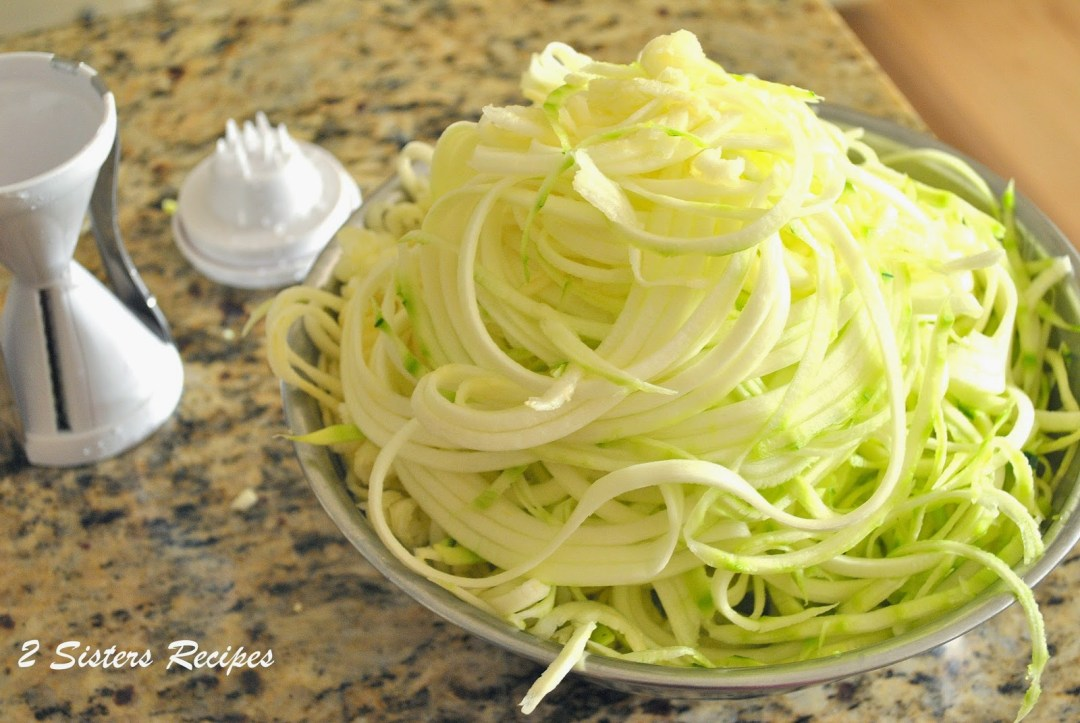 Spiralized Zucchini by 2sistersrecipes.com