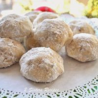 Snow Ball Christmas Cookies and Online Cookie Exchange