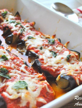Eggplant Rollatini -Lightened! by 2sistersrecipes.com
