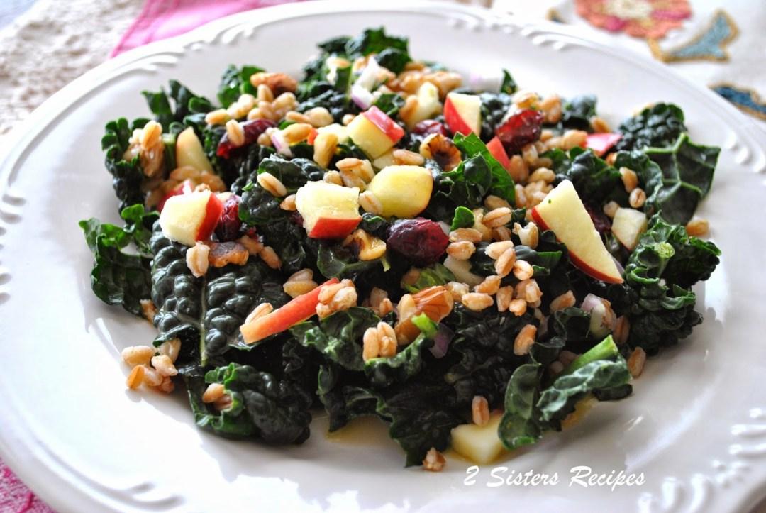 Kale and Farro Salad by 2sistersrecipes.com