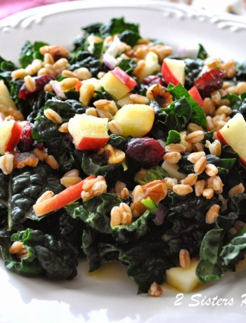 Kale and Farro Salad by 2sistersrecipes.com