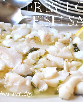 Fresh Cod Fish Salad by 2sistersrecipes.com
