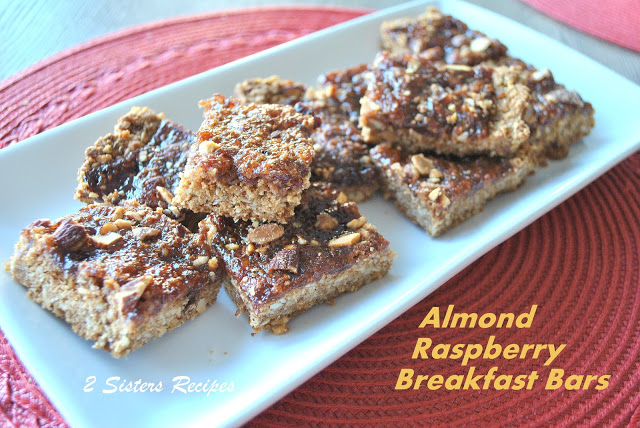 Almond Raspberry Breakfast Bars by 2sistersrecipes.com