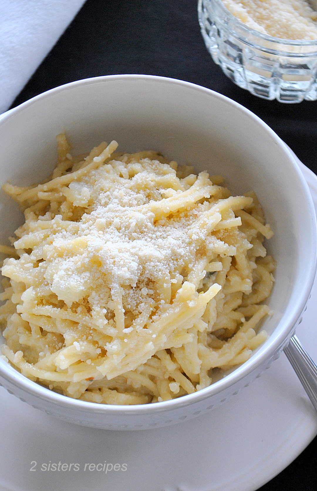 Pasta with Creamy Cauliflower by 2sistersrecipes.com