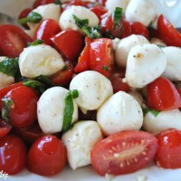 Spring Tomato, Basil, Bocconcini Salad