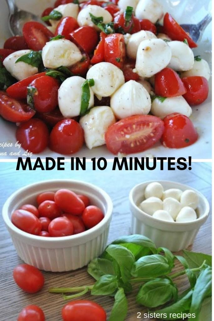Spring Tomato, Basil, Bocconcini Salad by 2sistersrecipes.com