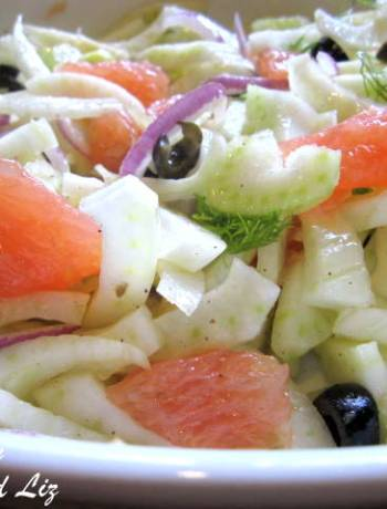 Fennel and Grapefruit Salad by 2sistersrecipes.com