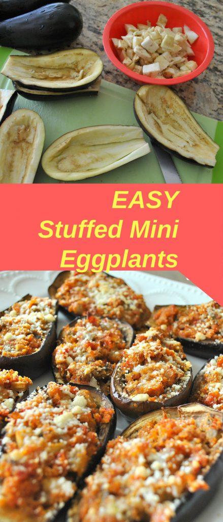 EASY Stuffed Mini Eggplants by 2sistersrecipes.com