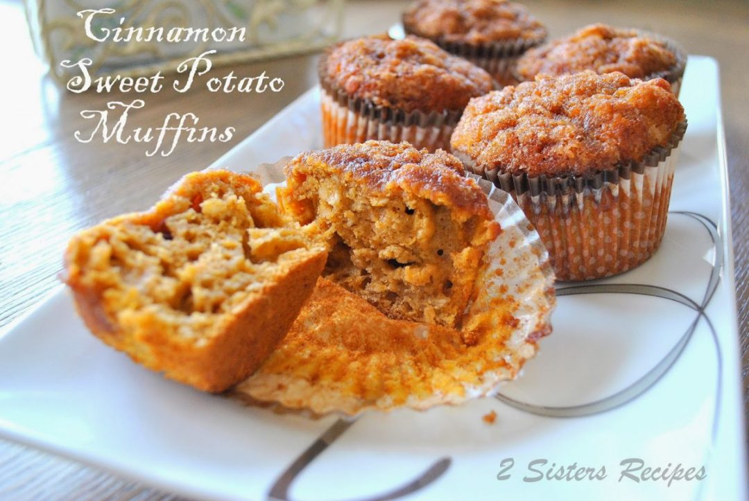 Cinnamon Sweet Potato Muffins by 2sistersrecipes.com