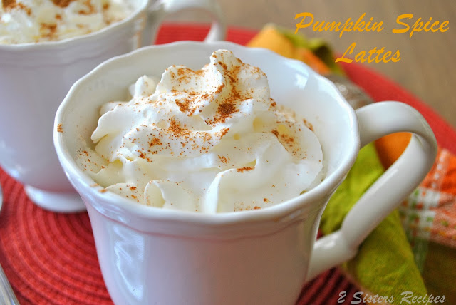Pumpkin Spice Lattes - Lightened!