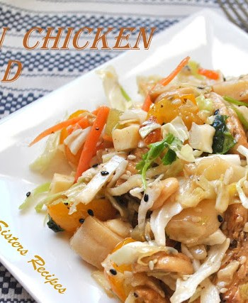 Asian Chicken Salad by 2sistersrecipes.com