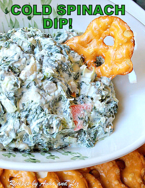 Cold Spinach Dip , by 2sistersrecipes.com