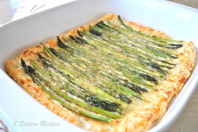 Asparagus Gruyere Swiss Tart by 2sistersrecipes.com