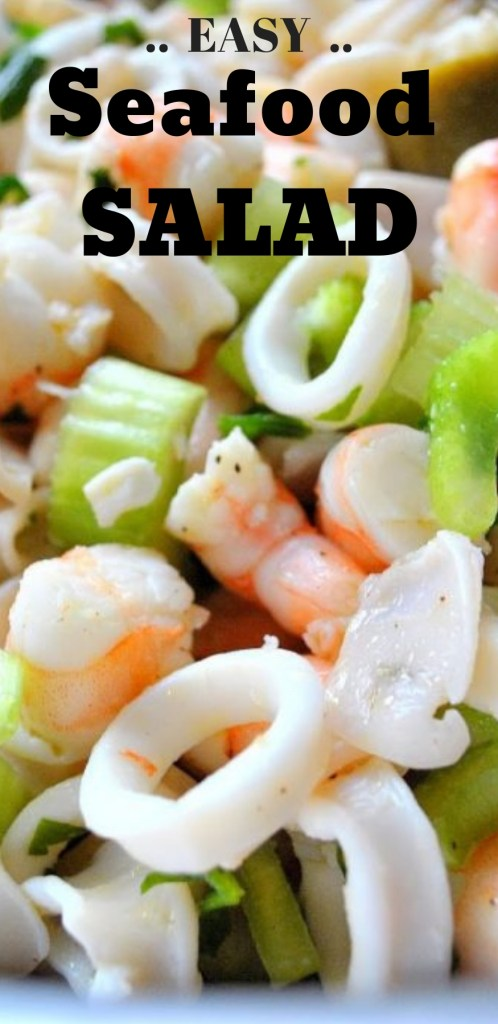 Seafood Salad - Marinated for Christmas Eve! by 2sistersrecipes.com