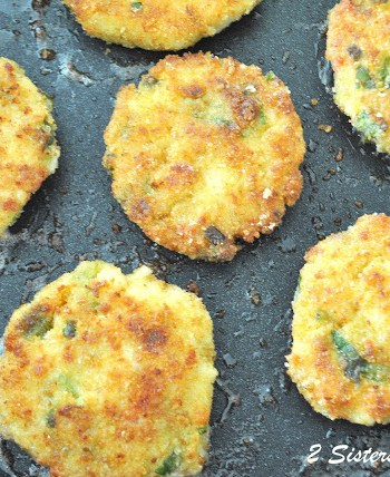 Cod Fish Cakes lightened by 2sistersrecipes.com