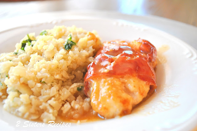 Chicken Saltimbocca with Cauliflower Rice as Risotto