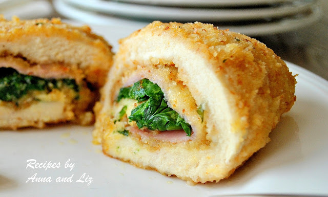 Chicken Rollatini with Ham Cheese and Spinach