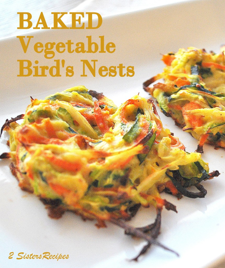 Baked Vegetable Bird's Nests by 2sistersrecipes.com