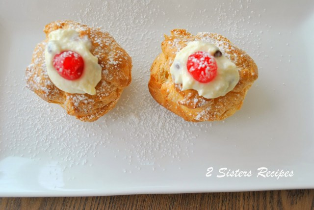 ITalian Cream Puffs for St. Joseph's Day by 2sistersrecipes.com