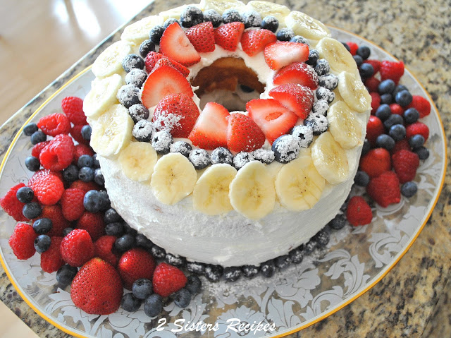 No-Bake Fresh Berry Yogurt Pie and Angel Food Cake! by 2sistersrecipes.com