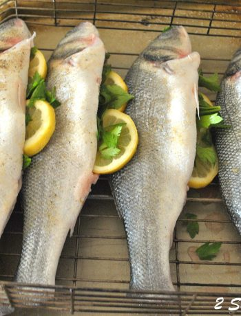 Grilled Whole Branzino , by 2sistersrecipes.com