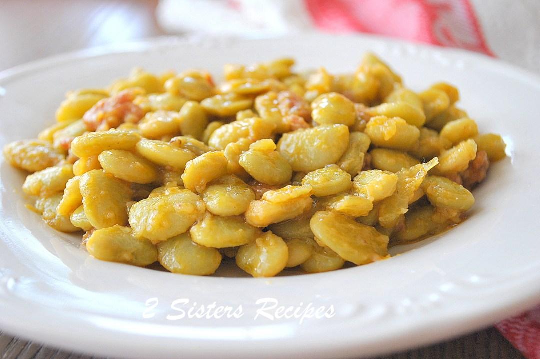 Best Butter Beans Recipe, 2sistersrecipes.com