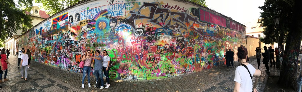 John Lennon Wall, by 2sistersrecipes.com