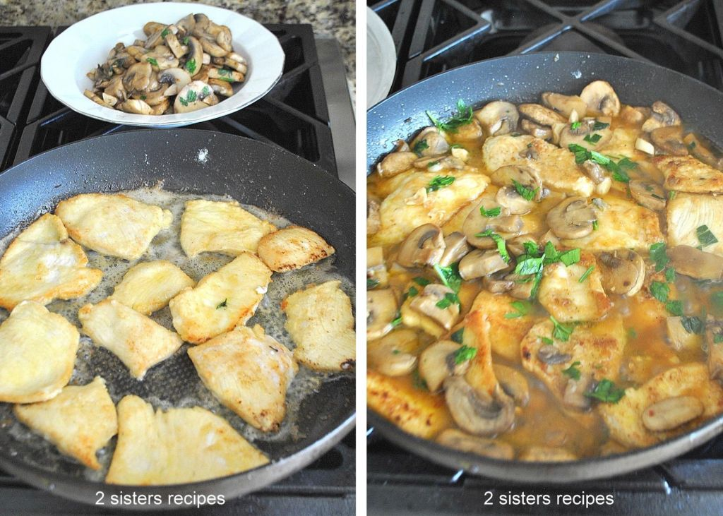 Chicken Smothered with Marsala Mushrooms and Parsley. by 2sistersrecipes.com