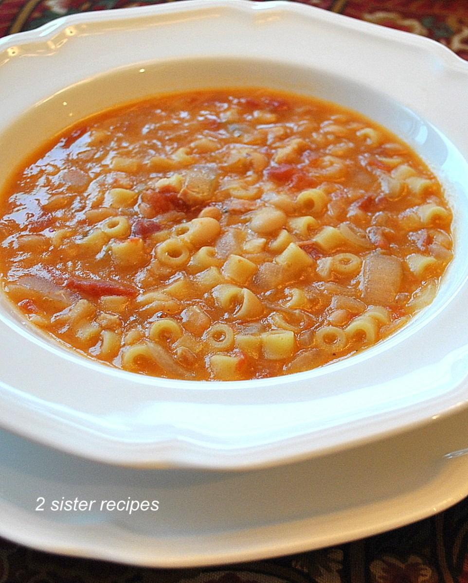 Easy Pasta Fagioli Soup
