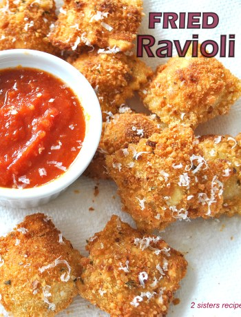 Fried Ravioli by 2sistersrecipes.com