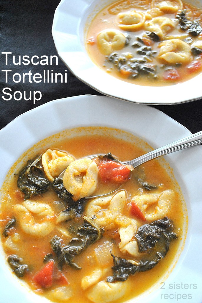 Tuscan Tortellini Soup by 2sistersrecipes.com