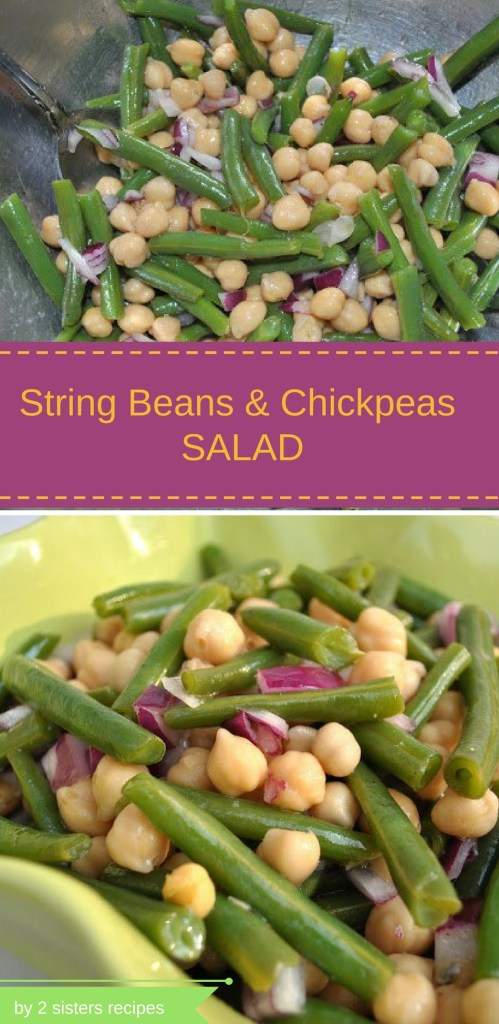 String Beans and Chickpeas Salad by 2sistersrecipes.com