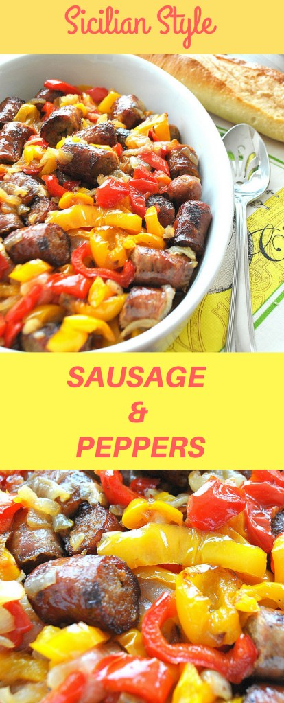 Sicilian Sausage & Peppers by 2sistersrecipes.com
