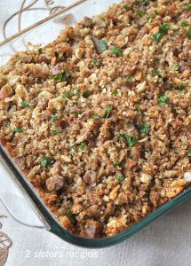 Thanksgiving Stuffing Sicilian Style! by 2sistersrecipes.com