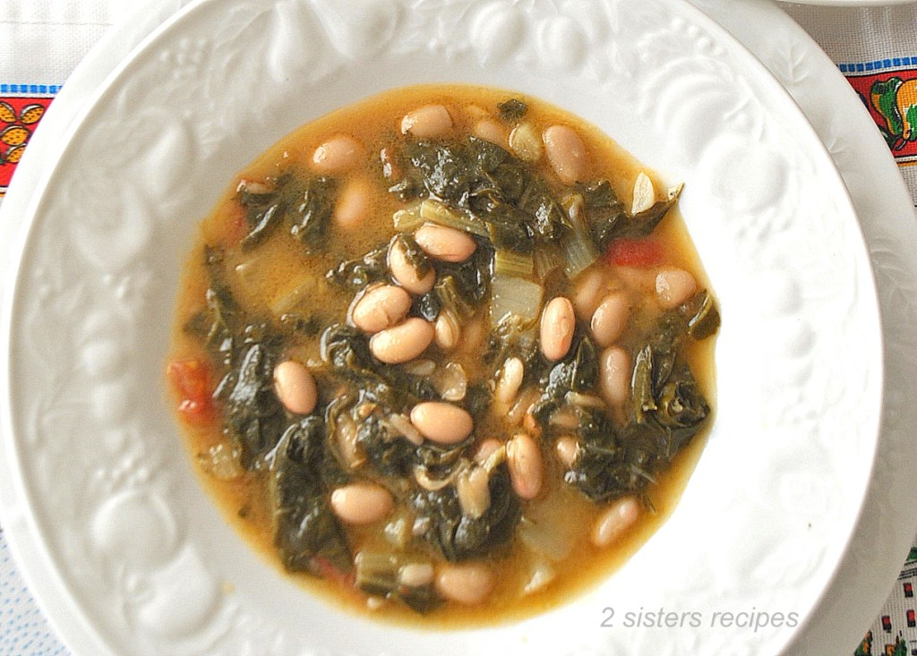 Swiss Chard and Beans Soup by 2sistersrecipes.com