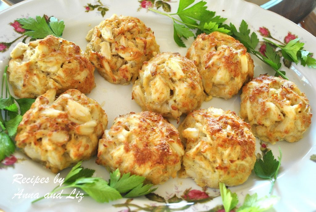 Crab Cakes- Lightened! by 2sistersrecipes.com