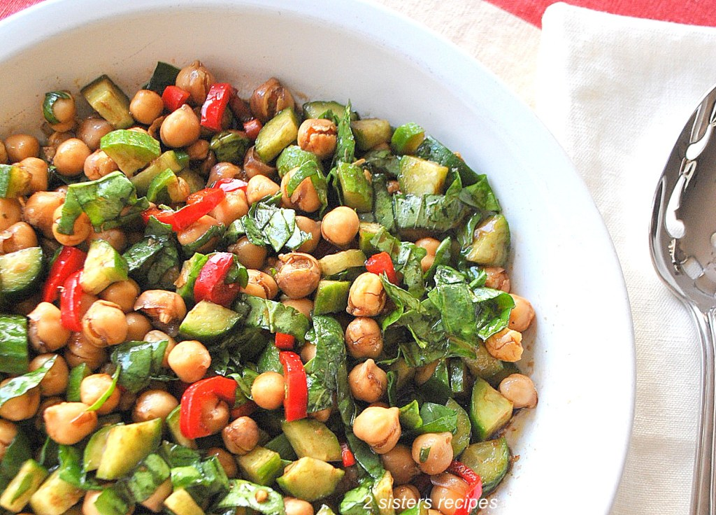 Chickpea Salad by 2sistersrecipes.com